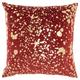 Modern Metallic Splash Luminescence Deep red Pillow
