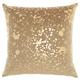 Modern Metallic Splash Luminescence Beige Pillow