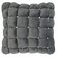 Modern Quilted Swarovski Luminescence Dark Grey Pillow