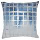 Modern Metallic Grid Luminescence Ocean Pillow