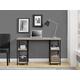 Pedestal Desk with Shelves