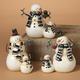 Decorative Coupled Snowmen Figurines (Set of 3)