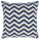 Modern Printed Chevron Life Styles Navy Pillow