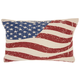 Modern Wavy American Flag Life Styles Multicolor Pillow