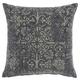 Modern Distress Damask Life Styles Charcoal Pillow
