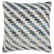 Modern Woven Denim Diagonal Life Styles Denim Pillow