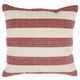Modern Printed Stripes Life Styles Red Pillow