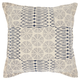 Modern Printed Circle Patch Life Styles Indigo Pillow