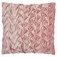 Modern Velvet Pleated Waves Life Styles Blush Pillow