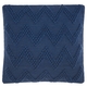 Modern Large Chevron Life Styles Indigo Pillow