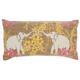 Modern Lucky Elephants Life Styles Multicolor Pillow