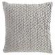 Modern Pleated Velvet Life Styles Dark Gray Pillow