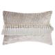 Modern Velvet Tassels Life Styles Gray Pillow