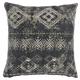 Modern Distress Diamonds Life Styles Charcoal Pillow
