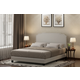 Upholstered Queen Panel Bed with Nailhead Trim