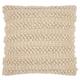 Modern Woven Stripes Life Styles Beige Pillow