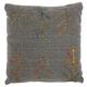 Modern Sari Figures Life Styles Charcoal Pillow