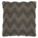 Modern Large Chevron Life Styles Charcoal Pillow