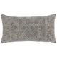 Modern Distress Lattice Life Styles Gray Pillow