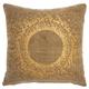 Modern Metallic Eclipse Life Styles Beige Pillow