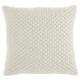 Modern Pleated Velvet Life Styles Cream Pillow