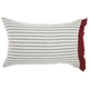 Modern Stripes Side Life Styles Red and White Pillow