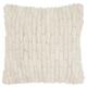 Modern Velvet Cobblestone Life Styles Ivory Pillow