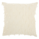 Modern Textured Stripes Life Styles Ivory Pillow