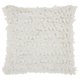 Modern Paper Loop Shag White Pillow