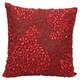 Modern Fully Beaded Luminescence Scarlet Pillow