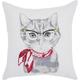 Modern Cassic Kitty White Pillow