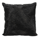 Modern Beaded Fan Luminescence Black Pillow