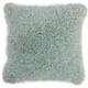 Modern Candy Lurex Shag Celadon Pillow