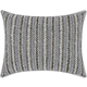 Modern Arrowhead Stripes Luminescence Pewter Pillow
