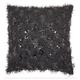 Modern Shaggy Sequins Shag Black Pillow