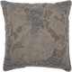 Modern Distressed Texture Luminescence Charcoal Pillow
