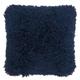 Modern Lush Yarn Shag Navy Pillow
