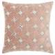 Modern Diamond Lattice Luminescence Rose Pillow