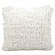 Modern Loop Shag White Pillow