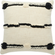 Modern Connect The Dot Stripe Life Styles Black Ivory Pillow