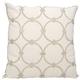 Modern Circles Luminescence Silver Pillow