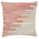 Modern Diagonal Ombre Natural Leather Hide Rose Pillow