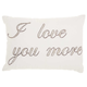 Modern I Love You More Luminescence Pewter Pillow
