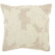 Modern Distressed Texture Luminescence Ivory Pillow