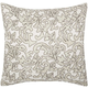 Modern Beaded Leaves Luminescence Silver Pillow