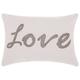 Modern Beaded Love Luminescence Silver Grey Pillow