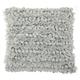 Modern Loop Shag Silver Pillow