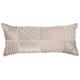 Modern Laser Cut Tiles Natural Leather Hide Rose Pillow