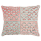 Modern Cut Out Arrows Natural Leather Hide Rose Pillow