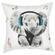 Modern Rockin' Elephant White Pillow